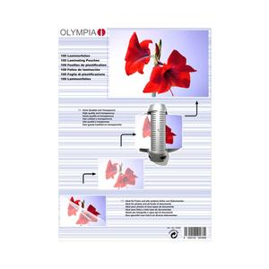 1x25 Olympia Laminierfolien DIN A4 80 micron