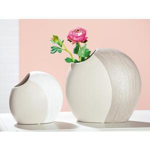 Gilde Handwerk Gilde, Vase flach Bicolore, 9x20x18cm