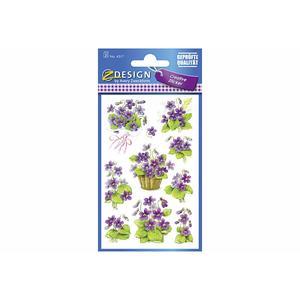 Multipack AVERY ZWECKFORM Flower Sticker Veilchen 4317 (4317) - 10 Stück