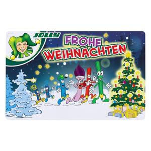 JOLLY, Farbstifte Frohe Weihnachten, Supersticks, 24 Stifte, 3000