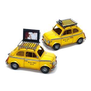 KPH N.Y.C Taxi gelb, Rahmen/Spardose aus Metall 27x13x14cm