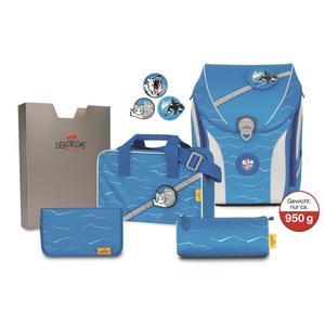 DerDieDas, Schultaschenset, Ergoflex Max Buttons (POLAR)