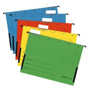 Herlitz Hängetasche A4 Kraftkarton farbig sortiert 5 Stück (5874755)
