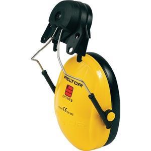3M Gehörschutz OPTIME I EN 352-1-3 SNR 26 dB für Helm mit 30mm-Schlitz mit 2 Dichtungsringen und Däm