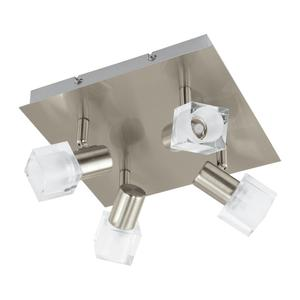 EGLO LED-QUADRAT/4 NICKEL-MATT/KLAR 'NOCERA' (93815)