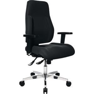 TOPSTAR Bürodrehstuhl mit Punktsynchrontechnik schwarz 430-510 mm ohne Armlehnen Tragfähigkeit 110 k