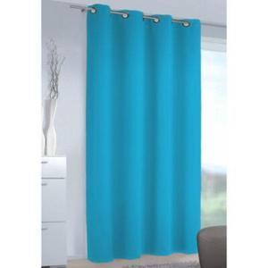 Albani Vorhang Black Out aqua blau, blickdichter Verdunkelungsvorhang Kinderzimmervorhang Vorhang
