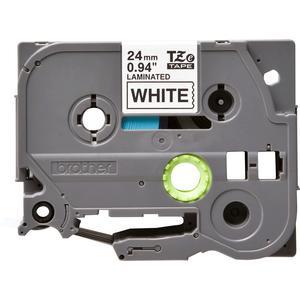 Brother Schriftbandkassette TZe251 Bandfarbe weiß, Schriftfarbe schwarz, 24 mm