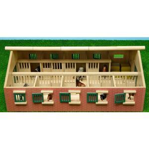 Kids Globe Pferdestall mit 9 Boxen, 1:32