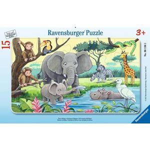 """Ravensburger Kinderpuzzle """"Tiere Afrikas"""" 15 Teile ab 3 Jahre Puzzle von Ravensburger"""