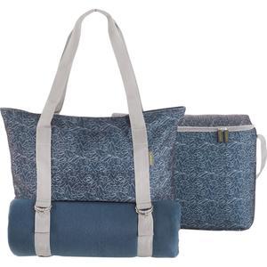 Meori Picknick-Set 3in1 mit Decke, Handtasche und Kühltasche, marine blau