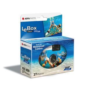 AgfaPhoto LeBox Ocean 400 27 Aufnahmen wasserfest bis auf 3m, Einwegkamera
