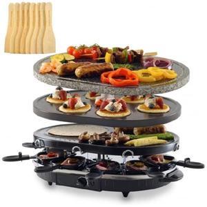 Silva Homeline Kombi-Raclette-Grill mit Grillstein RG-S 93