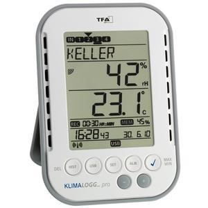 Thermo-Hygrometer Messbereich 0 bis 50GradC / Luft 1-99 % H137xB98xT26mm Kunststoff