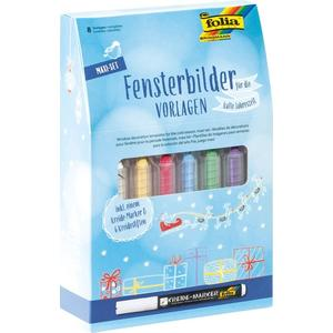 Folia, Fensterbilder Vorlagen Maxi Set (WINTER)