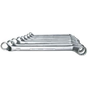 GEDORE Doppelringschlüsselsatz 2-8 8-teilig Schlüsselweite 6 - 22 mm tief gekröpft