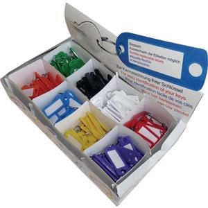 Schlüsselanhänger mit S-Haken farbig sortiert Kunststoff mit S-Haken