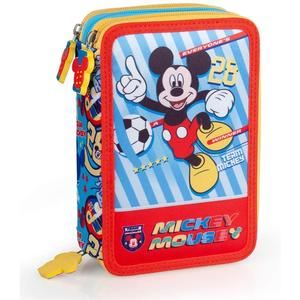 Triple 34224 Federmäppchen Mickey Mouse, 43-tlg.