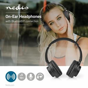 Nedis On-Ear Drahtlose Kopfhörer / Batteriespielzeit: Bis zu 10 Stunden / Eingebautes Mikro / Drücken Sie Strg / Lautstärke-Regler