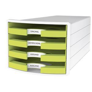 Schubladenbox IMPULS DIN A4/C4 4 Trend Colour lemon (1013-50)