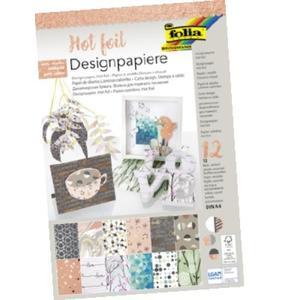 Folia, Designpapierblock 165 g/m², Hotfoil, 12 Blatt (11849)