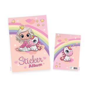 HERMA Sticker Sammelalbum für Kids Prinzessin Sweetie A5 (15423)
