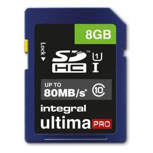 Integral SDHC Karte 8GB cl10 (54-82-17/INSDH8G10-80U1)