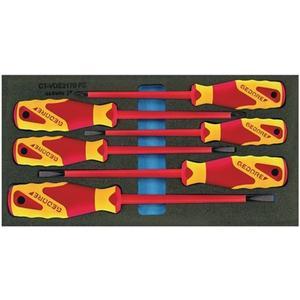 GEDORE Werkzeugmodul 1500 CT1-VDE 2170 PZ 6-teilig 1/3-Modul Schraubendreher Schlitz / PZD