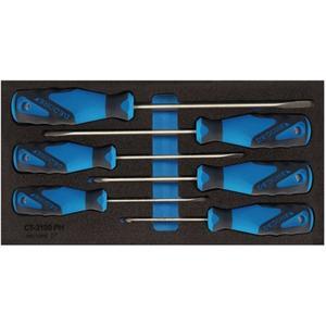 GEDORE Werkzeugmodul 1500 CT1-2150 PZ 6-teilig 1/3-Modul Schlitz / PZD