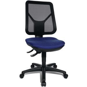 TOPSTAR Bürodrehstuhl mit Lendenwirbelstütze blau 430-510 mm ohne Armlehnen Tragfähigkeit 110 kg