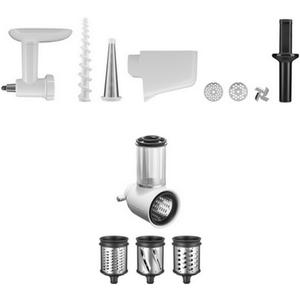 KitchenAid Zubehör für alle Küchenmaschinen 3-tlg Zubehör-Set (5KSMVSA+5KSMFGA+5KSMFVSP) (5KSM2FPPC)