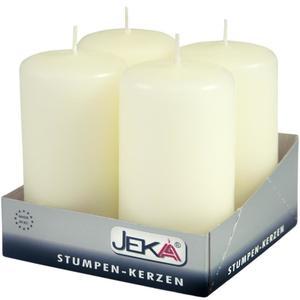 Jeka Kerzen Jeka, Stumpen 80/50mm 4er Packung (ELFENBEIN)