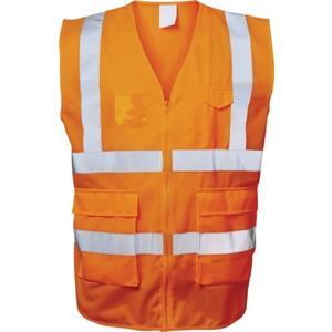 FELDTMANN Warnweste EWALD Größe XL orange EN ISO 20471 Kl. EN ISO 13688