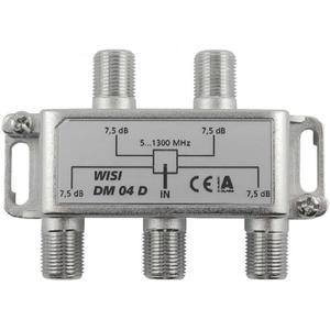 WISI 4-fach F-Verteiler 5-1300 MHz