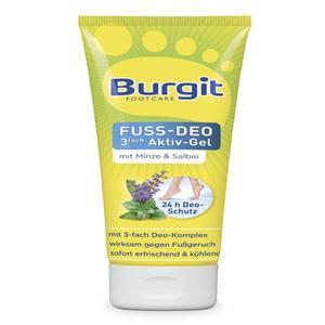 Tetesept Burgit, Fuss Deo 3fach Aktiv Gel, 75 ml