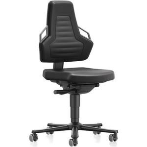 BIMOS Arbeitsdrehstuhl Nexxit Rollen Integralschaum schwarz Grifffarbe grau 450-600 mm