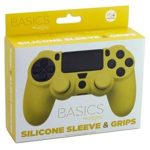 PS4 Silicone Skin + Grips (Yellow) Englisch