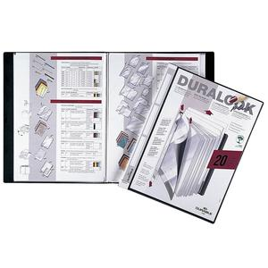 DURABLE Sichtbuch Duralook Plus A4 20 Hüllen 17mm schwarz (243201)