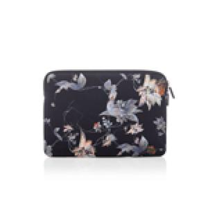Trunk Neopren Sleeve für MacBook Pro 16, Black Flower