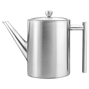 Bredemeijer Teekanne Minuet® Cylindre Edelstahl matt gebürstet 1,2lt. doppelwandig
