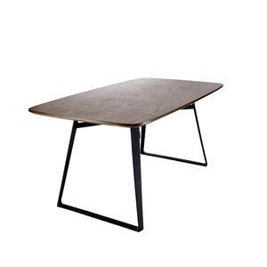 Esstisch Sidero aus Holz und Metall - Moderner Esszimmertisch mit Metall Beinen