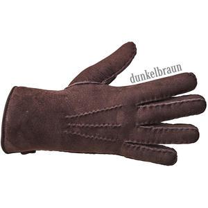 Lammfell-Fingerhandschuhe-PREMIUM-dunkelbraun