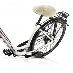 Lammfell-Fahrradsattelbezug natur