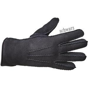 Lammfell-Fingerhandschuhe-PREMIUM-schwarz