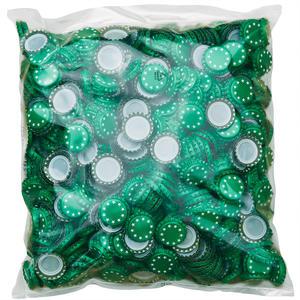 Kronenkorken 26mm Grün mit Sterne weiss - 1000 Stück
