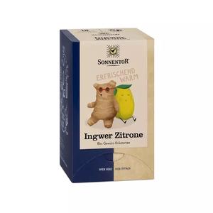 Ingwer Zitrone Tee bio, 18 Stk. Doppelkammerbeutel