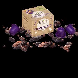 FABICO CIOCCOLATO, Bio-Kakao in kompostierbarer Kapsel, 10 Stk. Packung