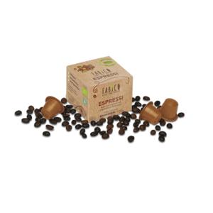 FABICO ESPRESSI, Bio-Kaffee in kompostierbarer Kapsel, 10 Stk. Packung