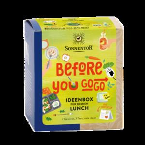 Before you go go! Ideenbox für deinen Lunch bio, 40,8 g Packung