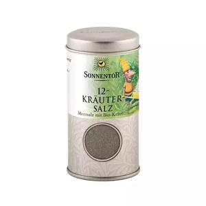 12-Kräutersalz, BIO-Meersalz-Kräutermischung, 75 g Streudose